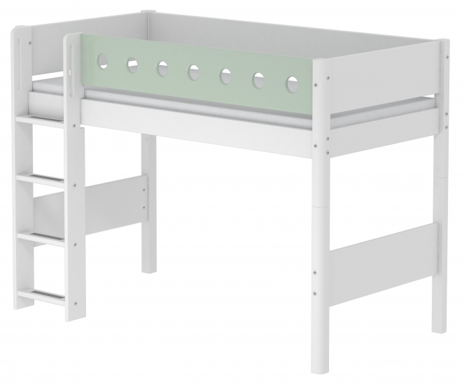 Lit mezzanine évolutif White 90x190