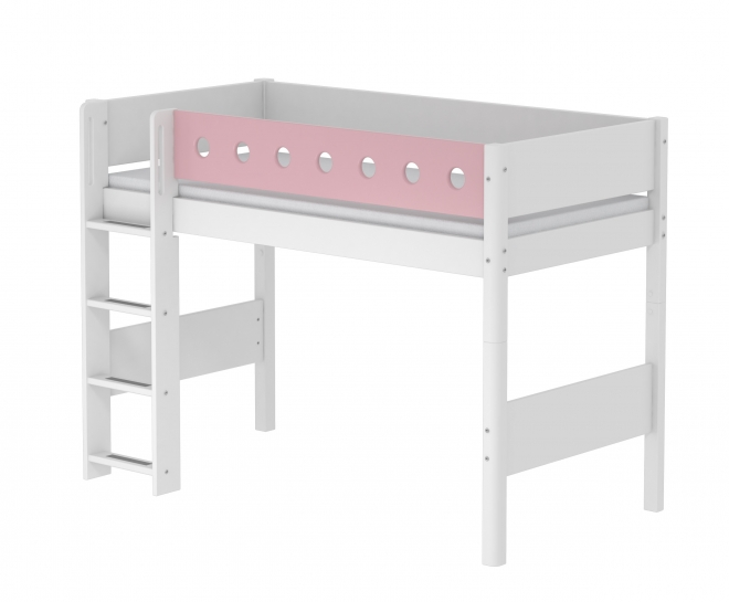 lit mezzanine volutif white 90x200 flexa blanc rose file dans ta chambre. Black Bedroom Furniture Sets. Home Design Ideas