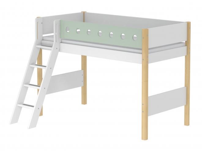lit mezzanine volutif white 90x190 ech incli flexa. Black Bedroom Furniture Sets. Home Design Ideas