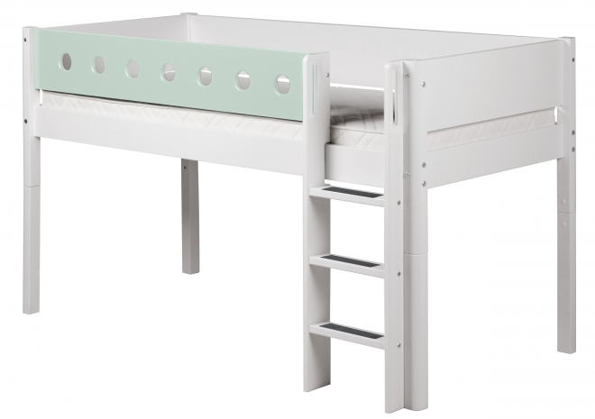 lit mezzanine volutif mi hauteur white 90x200 flexa file dans ta chambre. Black Bedroom Furniture Sets. Home Design Ideas