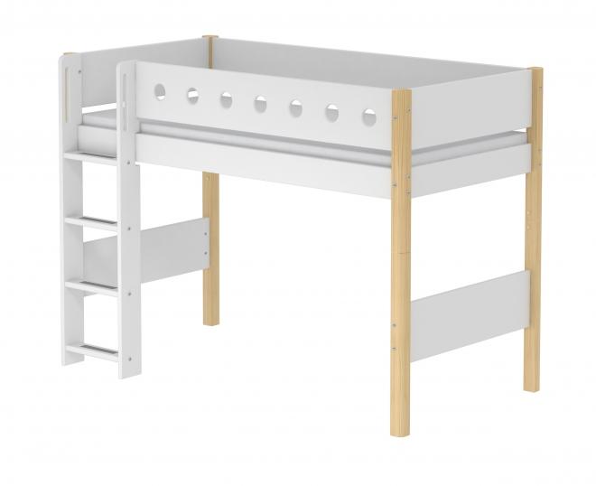 Lit mezzanine évolutif White 90x200