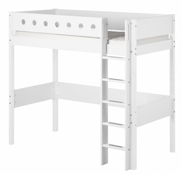 Lit mezzanine évolutif XL White 90x190