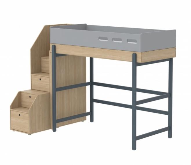 lit mezzanine volutif popsicle escalier flexa. Black Bedroom Furniture Sets. Home Design Ideas