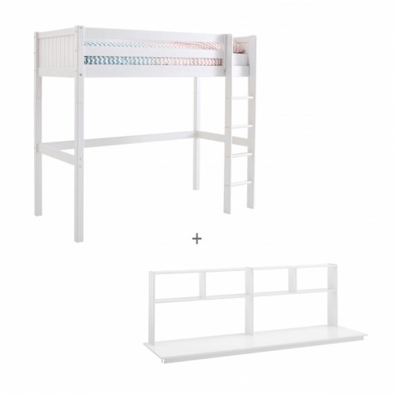 Lit mezzanine Romantic 90x200 + bureau