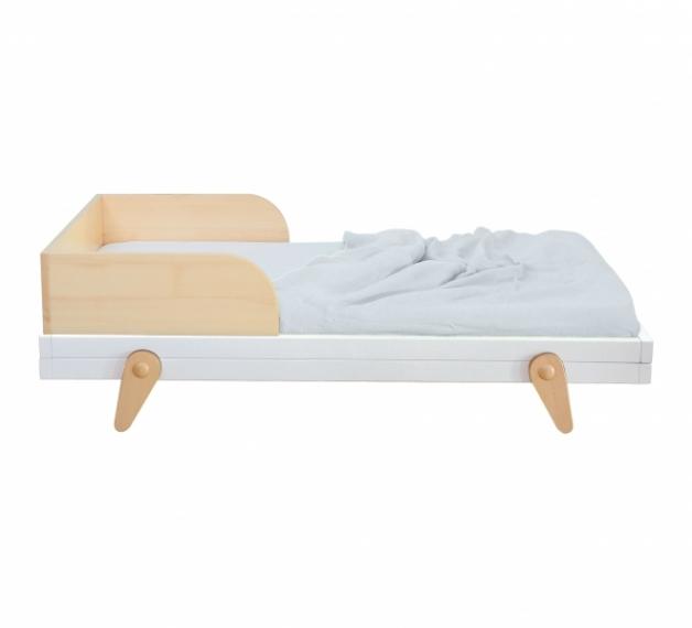 lit petit peton junior 70x140 laurette bleu canard file dans ta chambre. Black Bedroom Furniture Sets. Home Design Ideas