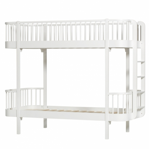 Lit superpos volutif wood chelle de c t oliver furniture blanc file - Lit superpose evolutif ...