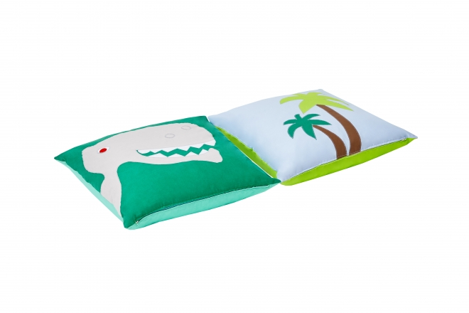 Lot de 2 coussins Dinosaure Basic Hoppe