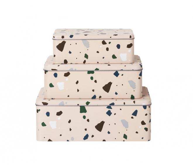 Lot de 3 boîtes Terrazzo