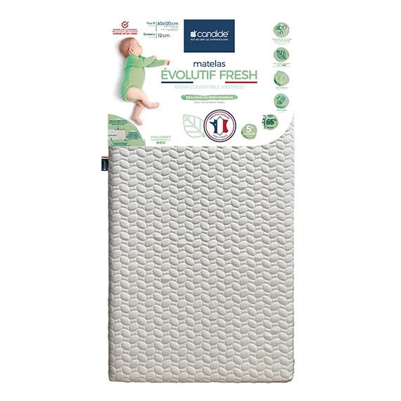 Matelas évolutif Fresh déhoussable 60x120