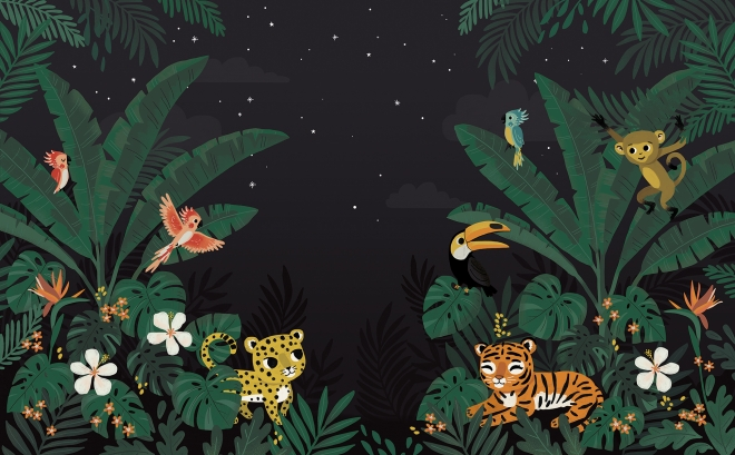 Papier Peint Décor mural Jungle Night