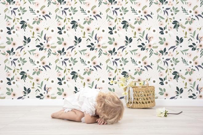 10 M Rôle Nappes Papier Peint Chambre Enfant Fille Ballet fleurs feuilles XXL dk2212