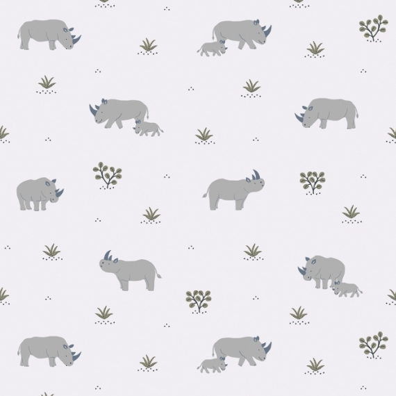 Papier peint Rhinoceros