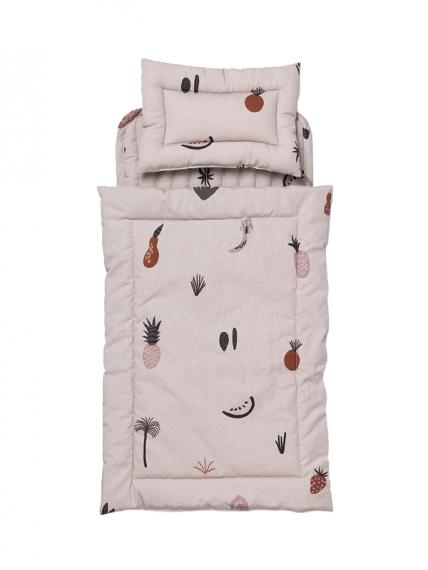 Parure de lit Fruiticana pour lit de poupée Kuku