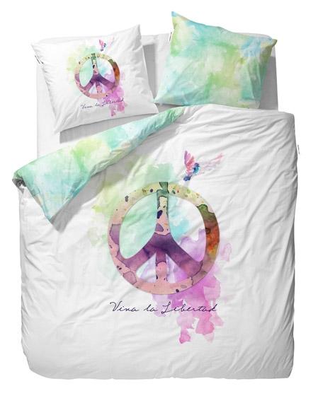 Parure de lit 200x200 peace et love file dans ta chambre for Parure de lit 200x200