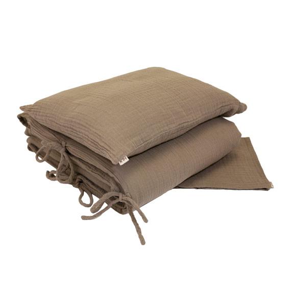 parure de lit 140x200 gaze numero 74 beige file dans ta chambre. Black Bedroom Furniture Sets. Home Design Ideas