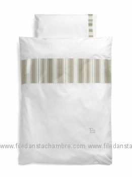 d8a0611fd4c Housse de couette Anaïs - Pazapas - Beige Blanc