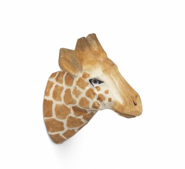 Patère sculptée Giraffe