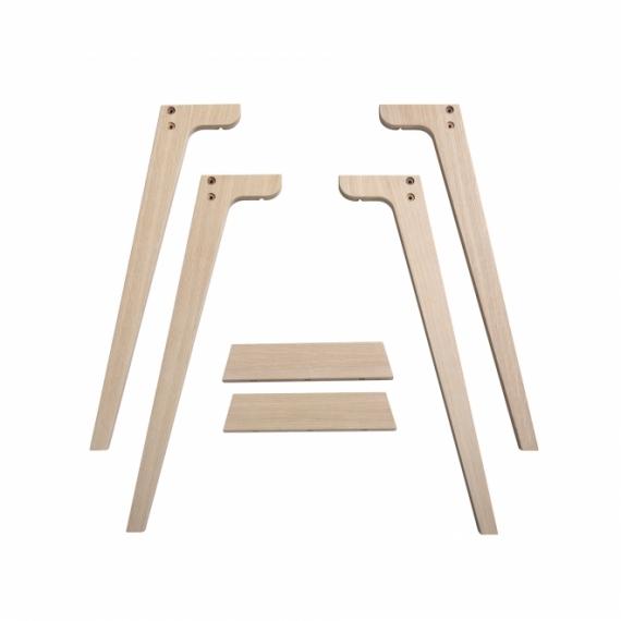 Pieds de Bureau Wood pour conversion 72,6cm