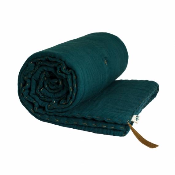 plaid 240x220 gaze numero 74 bleu canard file dans ta chambre. Black Bedroom Furniture Sets. Home Design Ideas