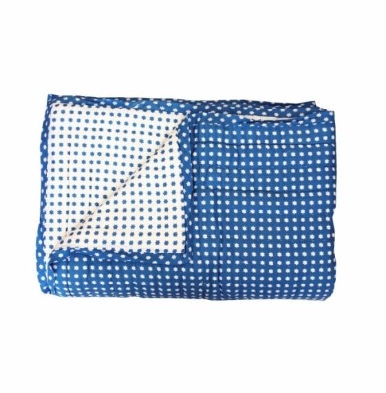 Plaid quilté 150x220 Blue Stars