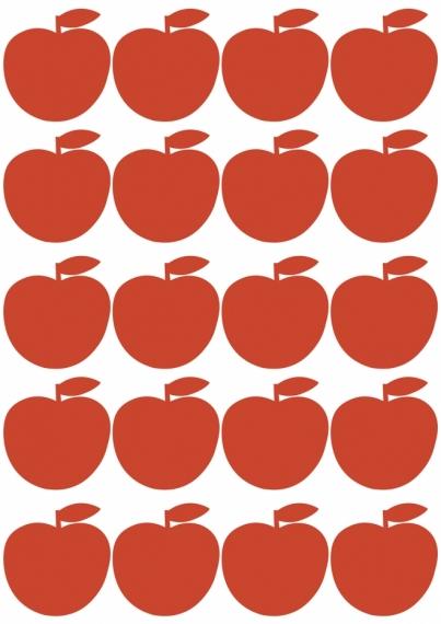 Planche de sticker Pommes Rouges
