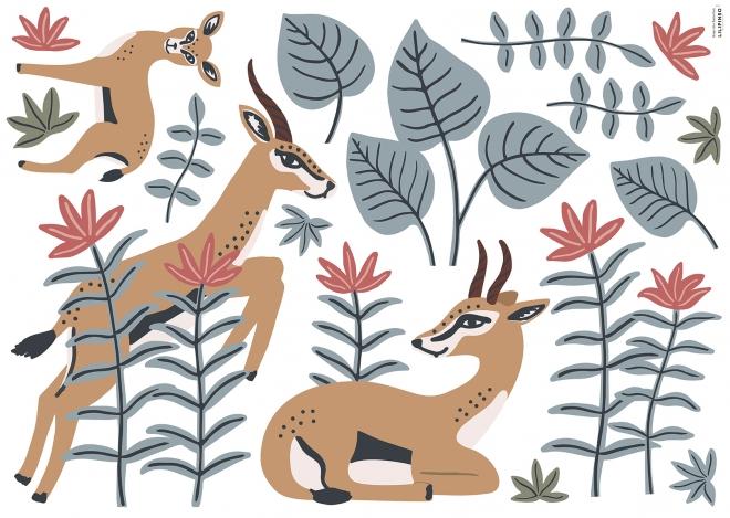 Planche de Stickers Décor L Les Gazelles