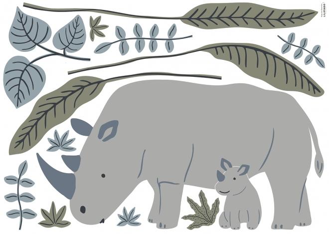 Planche de Stickers Décor L Les Rhinos
