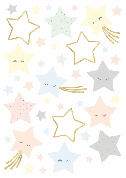 Planche de stickers Etoiles rieuses