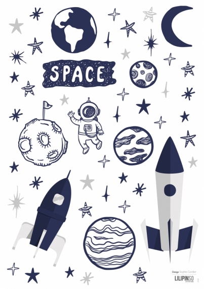 Planche de Stickers Space