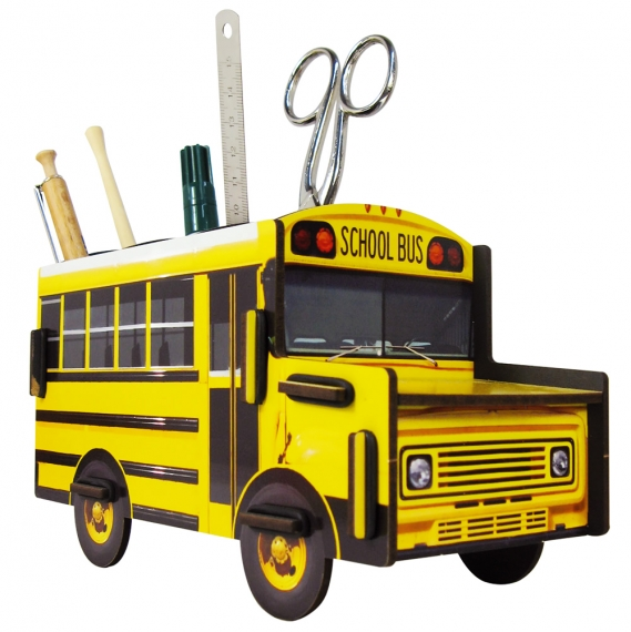 Porte-stylos School Bus