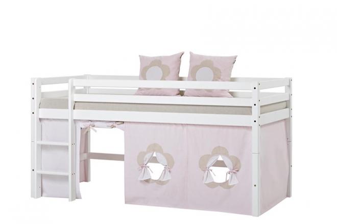 Rideau de lit mezzanine mi-hauteur Basic 90x200