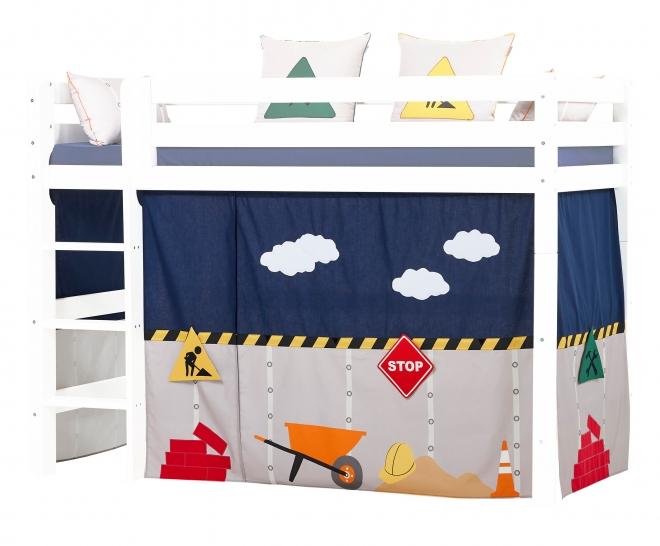 Rideau de lit mezzanine mi-hauteur Construction 90x200