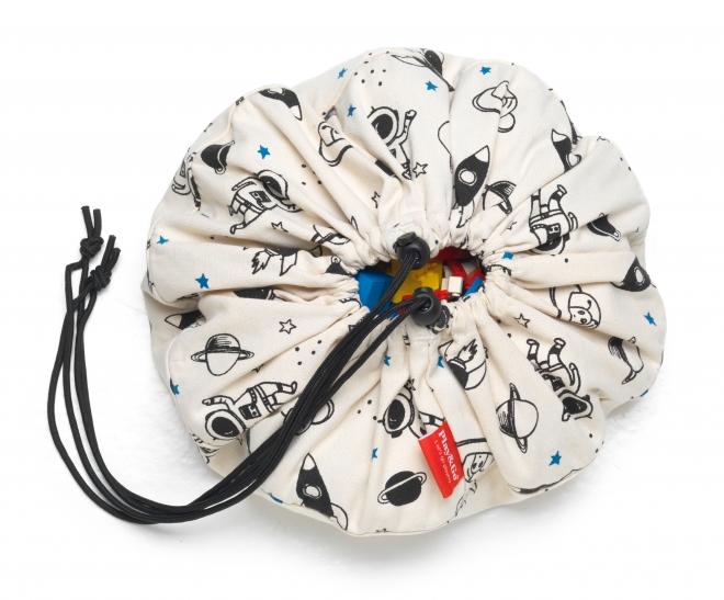 sac jouets space playetgo noir et blanc file dans. Black Bedroom Furniture Sets. Home Design Ideas