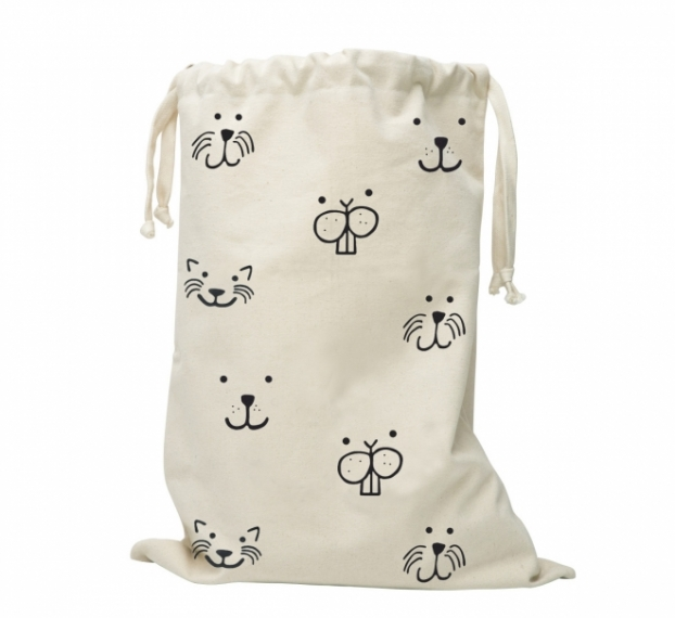 sac jouets tissu animal face tellkiddo file dans ta chambre. Black Bedroom Furniture Sets. Home Design Ideas