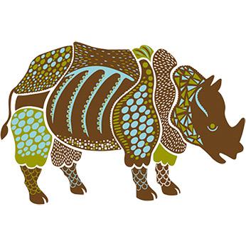 Sticker Rhinocéros L