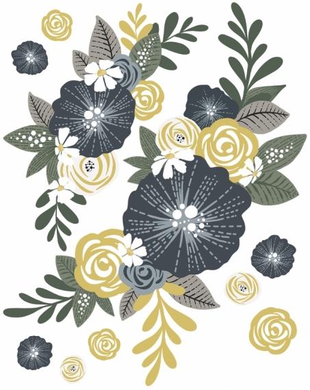 Sticker Couronne de Fleurs