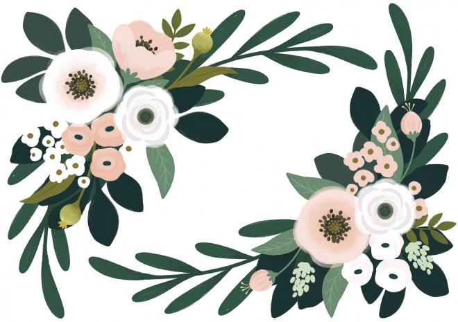 Sticker XL Ornement de fleurs