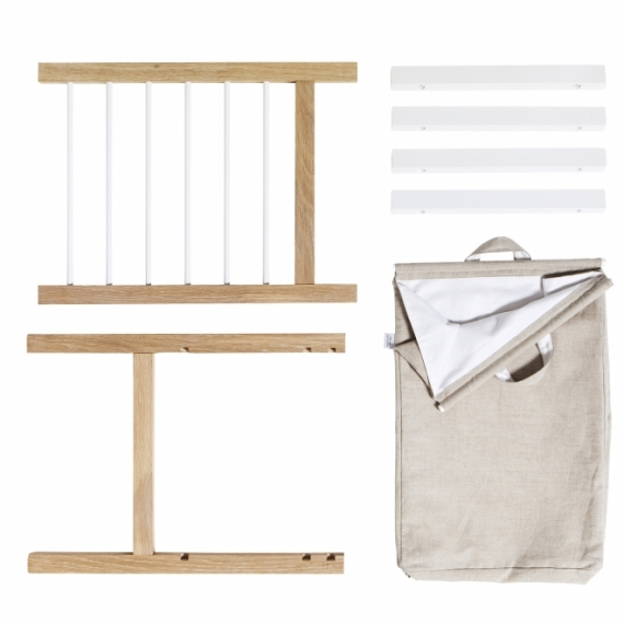 Supports coulissant et sac à linge pour commode 6 tiroirs Seaside