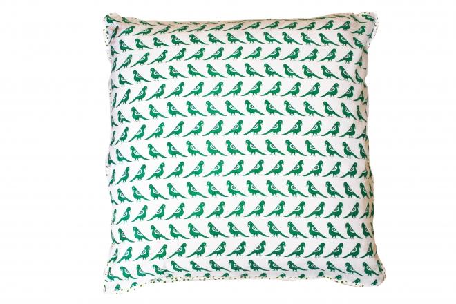 Taie d'oreiller 63x63 Green Birds