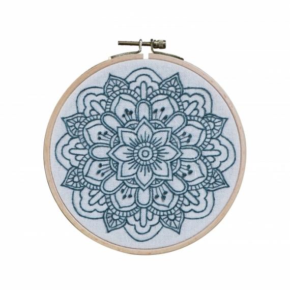 Tambour brodé Mandala Nature