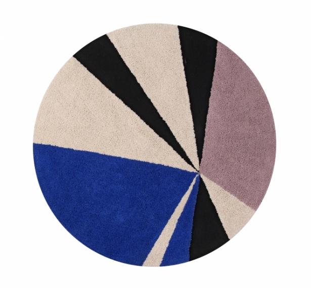 Tapis rond geometric 160 lorena canals bleu indigo file dans ta chambre - Tapis lorena canals soldes ...