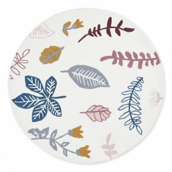 Tapis rond Pressed Leaves