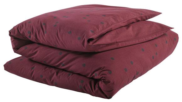 housse de couette 140x200 odette la cerise sur le gateau gris marsala file dans ta chambre. Black Bedroom Furniture Sets. Home Design Ideas