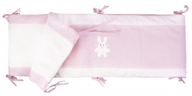 tour de lit complet et protection de parc ange lapin 60x120 et 70x140cm trousselier rose. Black Bedroom Furniture Sets. Home Design Ideas