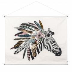 Affiche Zèbre Crazy Zebra