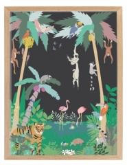 Affiche encadrée Jungle