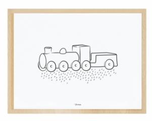 Affiche Encadrée La Locomotive