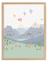 Affiche encadrée Mountains