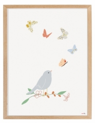 Affiche encadrée Papillons