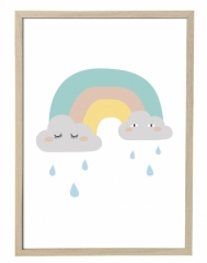 Affiche encadrée Rainbow